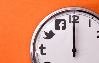 The best time to share content on Social Media networks